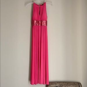 Pink prom dress only worn once